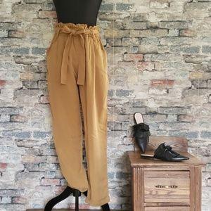 NEW THREAD & SUPPLY Yellow High Waist Pants Large